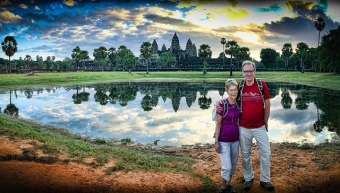 Ankor Wat Lake View Panaroama